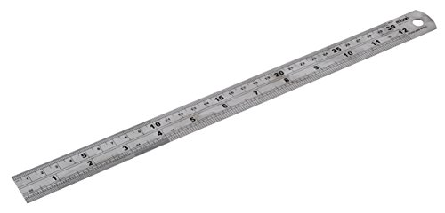 Rolson 50824 300 mm Stainless Steel Ruler - Multi-Colour
