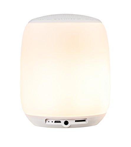 Beatit Bluetooth musica altoparlante Lampada da comodino Sensore Touch + luce multicolore dimmerabile notte e Bluetooth Speaker orologio con sveglia ingress per TF Card vivavoce e funzioni di temporizzazione