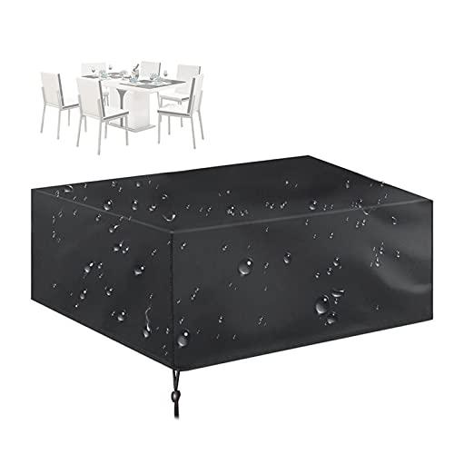Abdeckung Gartenmöbel, Wasserdichtes Schutzhülle für Drinnen, Draußen, Sofa, Bürostuhl, 210D Oxford Stoff PU-Beschichtung, Einfache Aufbewahrung & Gefaltet