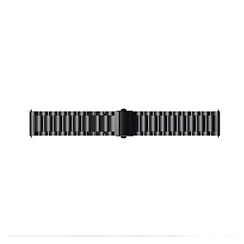 Para La Correa De Banda De Reloj De Acero Inoxidable GTR2 Para Xiaomi Huami Amazfit GTR 2 / GTR 47mm Pulsera Inteligente Pulsera De Pulsera Correa Con Herramienta ( Color : Black , Size : 22mm