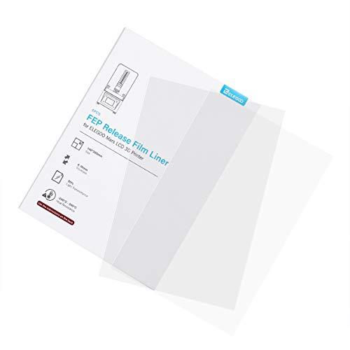 ELEGOO Pellicola di rilascio FEP da 5 pezzi per stampante 3D LCD ELEGOO MARS spessore 140 * 200 MM 0,127 mm