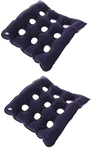 QUERT Cojines de Asiento Plegables 2X Cojines de Silla para sillas/sillas de Ruedas, inflables, previenen úlceras por presión y úlceras por presión