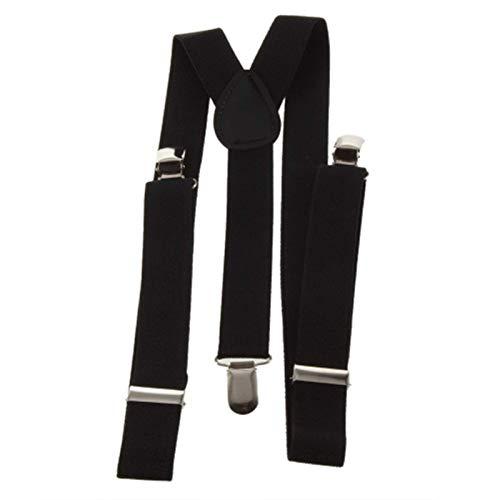 Tirantes Clips Tirantes Brazalete Ajustable Clip-On Ajustable Unisex Hombres Mujeres Pantalones Tirantes Tirantes Cinturón De Suspensión con Espalda En Y Totalmente Elástico (Color: Negro)