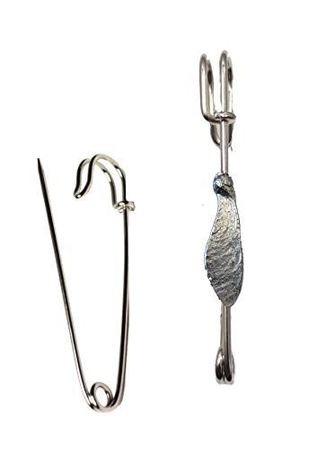 Giftsforall FT179 Ahorn-Samen-Propeller, 1,7 x 4,9 cm, für Schal, Brosche und Kilt, Zinn, 7,5 cm