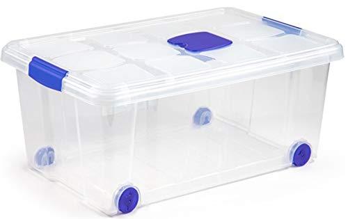 N / A Brillant Idea - Cajas almacenaje con Ruedas, 36 litros. 59x40x25 cm (2)
