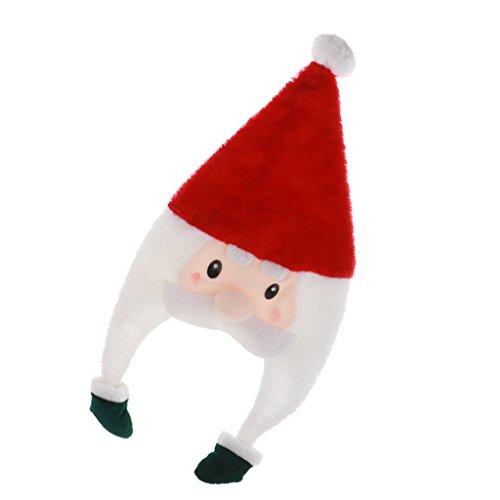 MagiDeal Cappello di Peluche Babbo Natale Pupazzo di Neve per Adulti Bambini 28cm - Babbo Natale