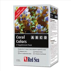 Red Sea Fish Pharm ARE22040 4-Pack Coral Colors ABCD Supplements for Aquarium, 100ml
