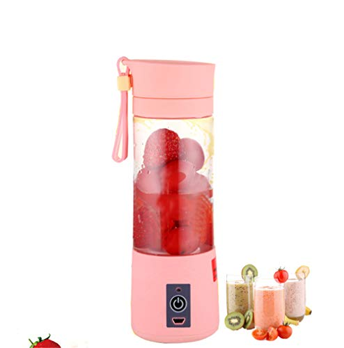 Find Bargain USB Rechargeable Juicer Cup,Stainless Steel Blade,Multifunction Portable Juicer Cup,Min...
