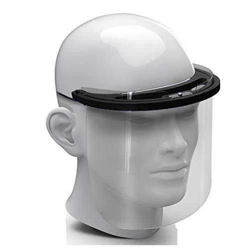 Premium Gesichtsschild Visier aus Kunststoff Schutzschild Gesicht Wiederverwendbarer Gesichtsschutzschild Spritzschutz Mund Nase Auge Anti Saliva