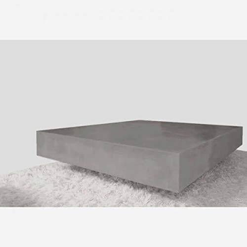 MATHI DESIGN Beton - Table Cube en Beton Gris