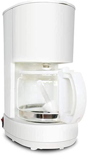 Filter Coffee Machine 550W Coffee Maker For Instant Coffee EsPress Macchiato More With 0.6L Glass Jug Detachable Filter Coffee Machine 550W Grinder-White