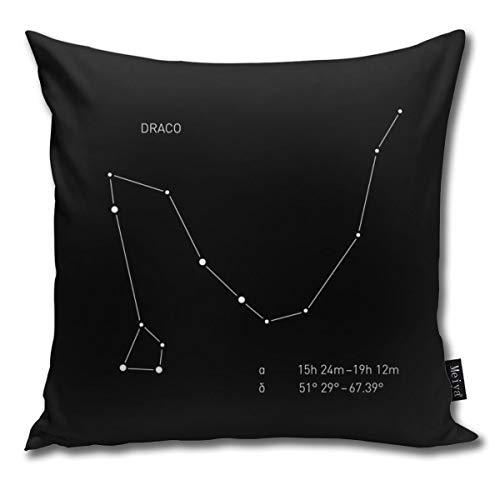 Funny Bag Überwurf-Kissenbezug, quadratisch, 45,7 x 45,7 cm, Draco Sternbild, dekorativer Reißverschluss