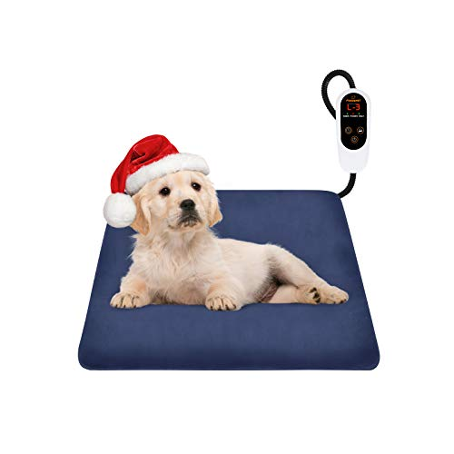 FOCUSPET Pet Heating Pad, Electric Dog Heating Pad Indoor Upgraded 6 Levels Temperature Adjustable...