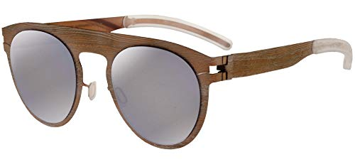 Mykita MAISON MARGIELA MMTRANSFER004 Rose Gold Light Grey Pine/Brown Flash 18/18/0 Unisex Sonnenbrillen