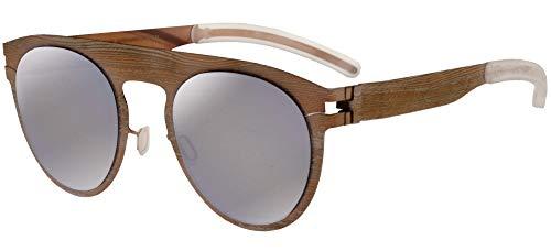 Mykita Gafas de Sol MAISON MARGIELA MMTRANSFER004 Rose Gold Light Grey Pine/Brown Flash 18/18/0 unisex