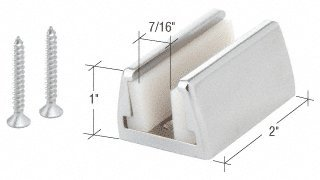 C.R. LAURENCE HYD03CH CRL Polished Chrome Hydroslide Sliding Door Floor Guide Kit
