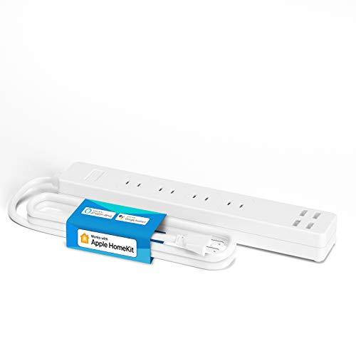 【Apple製品対応】Meross WIFIスマート延長コード スマホのSiriで家電を操作 全主要スマートスピーカー対応 HomeKit, Amazon Alexa, Google Home 電源タップ 4個ACコンセント+4個USB電源
