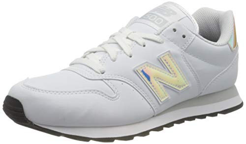 New Balance 500, Zapatillas para Mujer Blanco (Munsell White) 40.5 EU