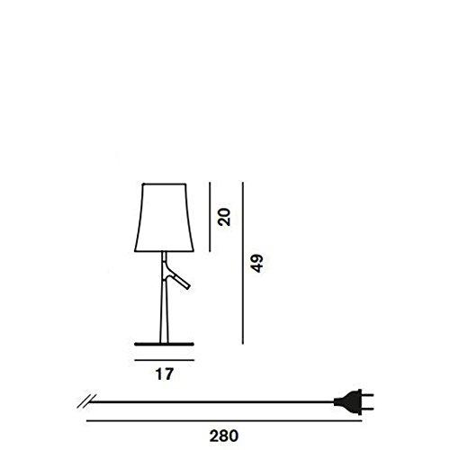Foscarini–Lampe Tisch Foscarini Birdie klein dimmbar–Grau