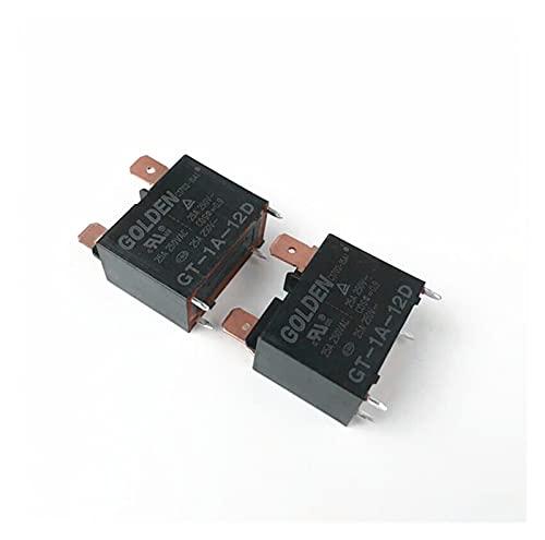 Relé Aire Acondicionado Calentador de Agua Relé 12V Relay GT-1A-12D GT1A12D 12V 12VDC DC12V 25A 250V 4PIN (Size : 50pcs)