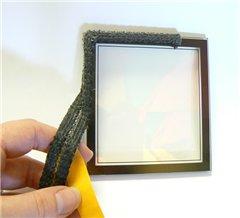 Pyrojoints 703, plat echelle, auto-adhésif, noir, 3 mm x 25 mm, noir, au mètre.