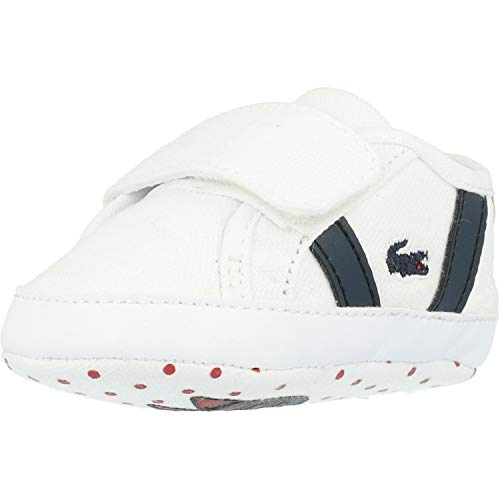 Lacoste Sideline Crib 120 2 Baby Weiß/Marine/Rot Sneakers-Baby 3