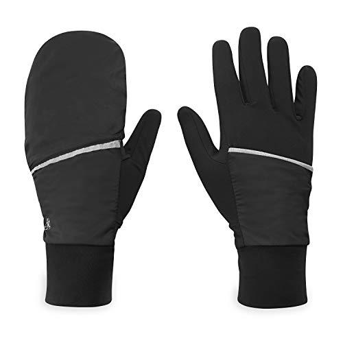 Gaiam Running Gloves Womens Convertible Mittens Touchscreen Compatible - Warm Winter Running Gear for Women - Walking, Running, Hiking, Biking/Cycling, Workout, Exercise/Fitness (S/M)