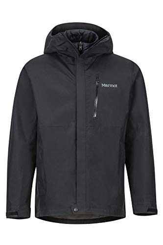 Marmot Minimalist Component Jacket Impermeable Rígido, Chubasquero, Resistente Al Viento, Resistente Al Agua, Transpirable, Hombre, Black, S