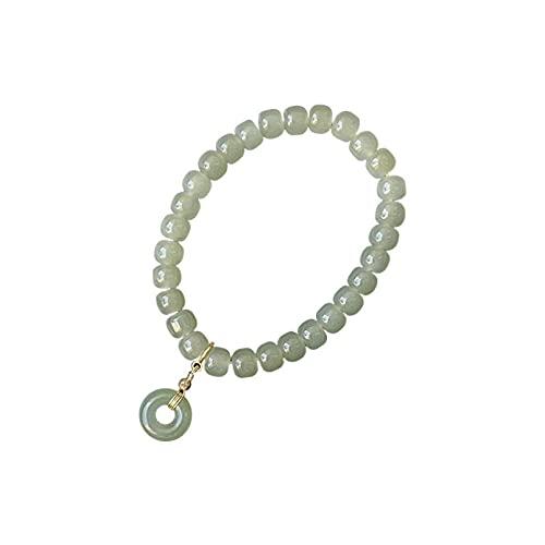 N/A Joyas de Pulsera Pulsera de Jade de Hetian Natural 6 * 8 mm Atmósfera de Moda Simple para Mujer Todo-fósforo Aniversario Día de la Madre Regalo de cumpleaños de Navidad