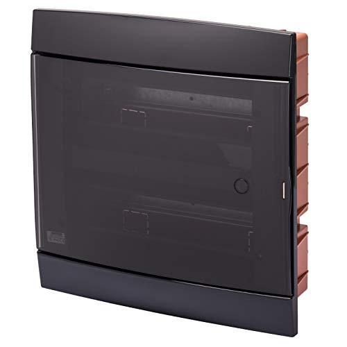 Gewiss - Centralino Da Arredo - Da Incasso - Predisposto Per Alloggiamento Morsettiere - 330X338X28 - Nero Toner - 24+2 Moduli
