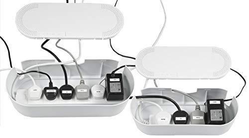 D-Line - Cable de extensión para cables (2 unidades, 1 pequeño, 1 grande, color blanco y negro)