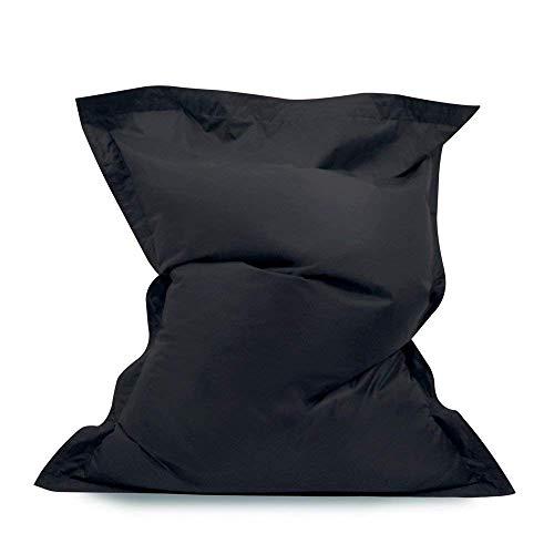 Bean Bag Bazaar Pouf Poire géant – Pouf Poire intérieur/extérieur imperméable à 100% - Noir