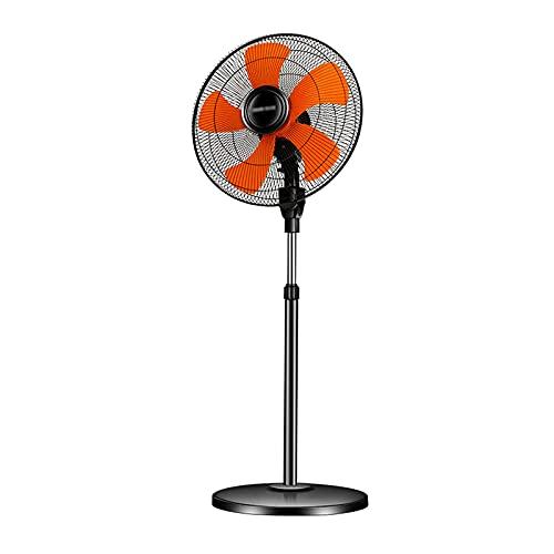 Ventilador de refrigeración, Ventilador de pie de 18', Funcionamiento silencioso de 3 velocidades, Altura Ajustable, Adecuado para Espacios Interiores o Exteriores.