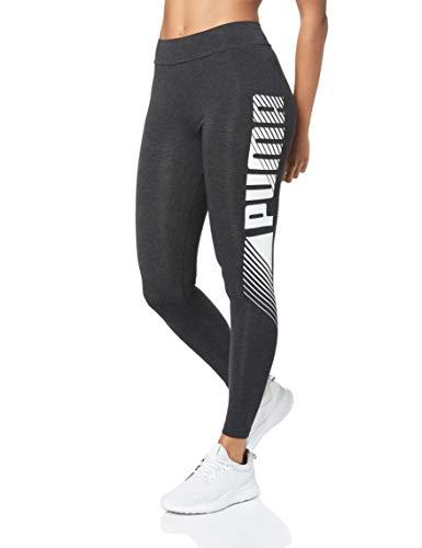 PUMA ESS+ Graphic Leggings Mallas Deporte, Mujer, Dark Gray Heather, L