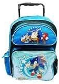 Large Rolling Backpack - Sonic the Hedgehog - Shiny New School Bag sh10844