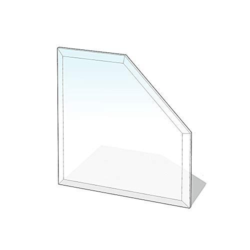 Glasbodenplatte Fünfeck mit Facette