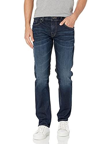 Silver Jeans Co. Men's Allan Classic Fit Slim Leg Jeans, Dark Wash, 36W x 30L