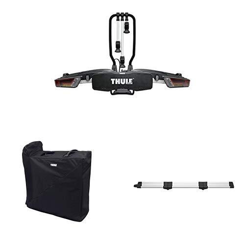 Thule 934400 EasyFold XT 3bike Tragetasche + 934100 EasyFold XT, 3 Fahrräder, 13 pin + 933400 Foldable Loading Ramp Bundle