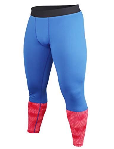 Muscle Alive Hombres Gimnasio Culturismo Compresión Leggins Medias Rutina de Ejercicio Aptitud Pantalones Capa Base Fresco y seco