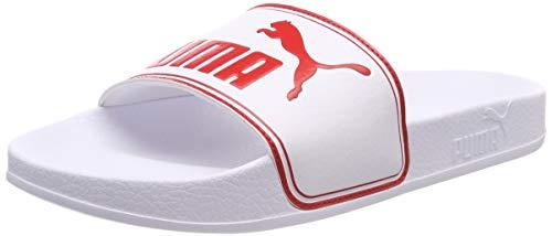 Puma Leadcat Jr, Scarpe da Spiaggia e Piscina Unisex-Bambini, Bianco White-High Risk Red, 38 EU