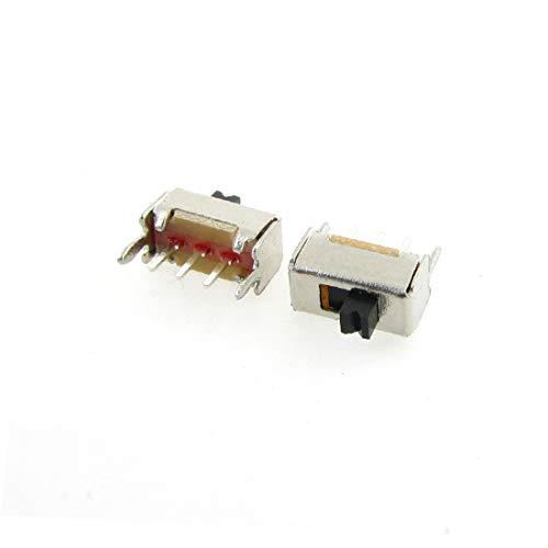 X-DREE 20 Stücke 3 Hochleistung Pin PCB 2 Position wesentlich SPDT 1P2T Miniatur gut gemacht Vertikaler Schiebeschalter SS12D07VG2(d34-84-95-2dd)