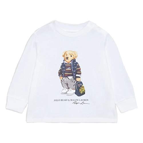 Polo Ralph Lauren - 320805681001 Camiseta Blanca Oso - Camiseta Manga Larga...