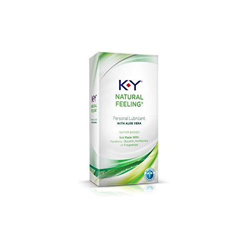K-Y Natural Feeling Personal Lubricant Gel with Aloe Vera, Water Based & Free from Harmful Chemicals, 1.69 Ounce (2 Boxes)