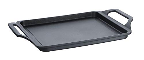 Schulte-Ufer Grillplatte Teppanyaki-Platte 33x24 cm Globus i, schwarz, XXStrong
