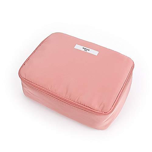 PoplarSun Maquillage Femmes Sac étanche de Grande capacité Voyage Organisateur cosmétique Sac Neceser Rose Wash Sacs Portable Toilette Make Up Pouch (Color : Pink)