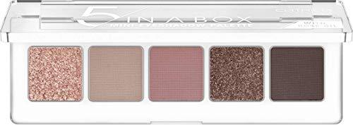 Catrice 5 In A Box Mini Eyeshadow Palette, Lidschatten, Nr. 020 Soft Rose Look, mehrfarbig, 5 Pink-Töne, mit Ölen, intensiv, matt, metallisch, schimmernd, Nanopartikel frei, ohne Parfüm (4g)
