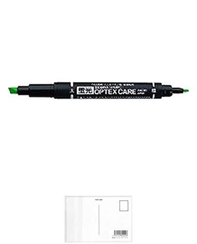 ゼブラ ZEBRA 蛍光ペンオプテックスケア ツイン グリーン 【10本セット】 + 画材屋ドットコム ポストカードA