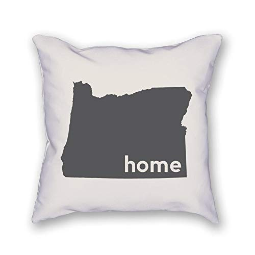43LenaJon Fundas de almohada de lino de algodón Oregon Home