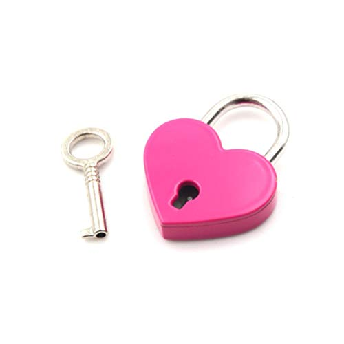 Bag Clasp - Zinc Alloy Suitcase Locker Hardware Set Mini Padlock Love Heart Shape Tiny Luggage Bag Case Lock - Decoratie Mesh Belt Protector Yellow Weight Marble Holders Generator Color Ident rozerood