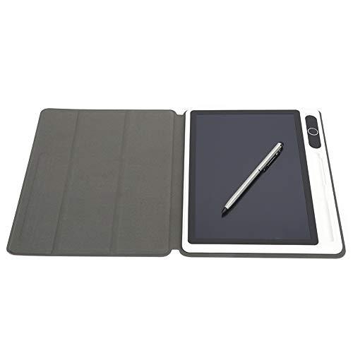 Bloc de notas electrónico de 10 pulgadas, tableta LCD, almohadilla de dibujo, suministros comerciales, bajo consumo de energía para notas(Red (with leather case))